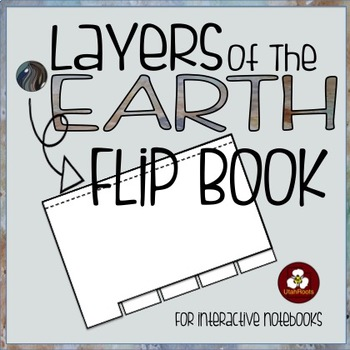 Layers of the Earth Flip Book for Interactive Notebooks
