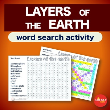 Layers of the Earth * WordSearch * Vocabulary * Warm Up * Bell Ringer