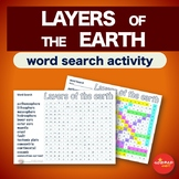 Layers of the Earth * WordSearch * Vocabulary * Warm Up *