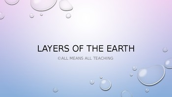 Layers of the Earth and Introduction to Plate Tectonics