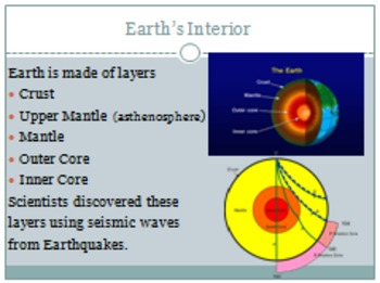 Layers of the Earth and Plate Tectonics and Plate Boundaries PowerPoint