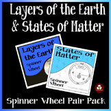 Layers of the Earth and States of Matter Spinner Wheel Pair Pack