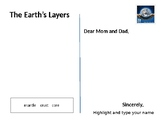 Layers of the Earth postcard activity
