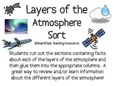 Layers of the Earth's Atmosphere Sort Packet