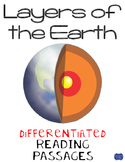 Layers of the Earth Differentiated Reading Passages for Earth's Layers
