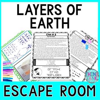 Layers of the Earth Escape Room! - Earth Science - NO PREP, PRINT & GO!
