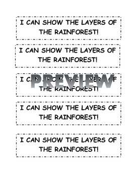 RainForest layers craft