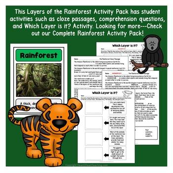 Layers of the Rainforest Unit & Flip Book