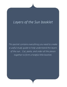 Layers of the Sun Booklet