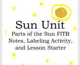 Layers of the Sun FITB Notes and Labeling Activity - Sun Unit