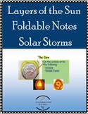 Layers of the Sun Foldable + Notes, Solar Storms with student questions