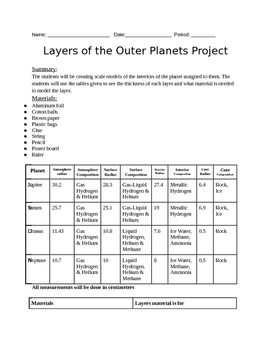 Layers of the outer Planets Lab