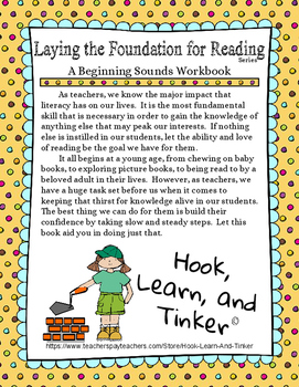 Laying the Foundation for Reading - Beginning Sounds