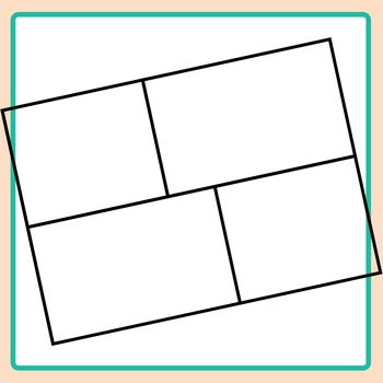 Layout Templates - Horizontal Rectangles Clip Art Set Commercial Use