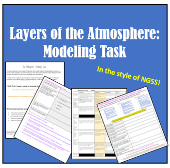 Layers of the Atmosphere: Modeling Task (assessment in the style of NGSS)