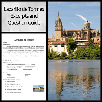 Lazarillo de Tormes Excerpts and Questions in Spanish: Intermediate Level
