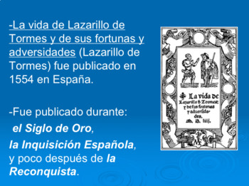 Lazarillo de Tormes Introductory Powerpoint