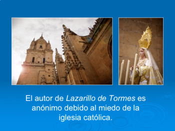 Lazarillo de Tormes Introductory Spanish Powerpoint