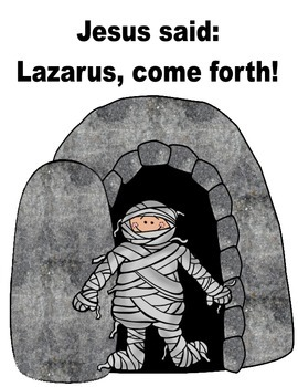Lazarus Lives! Lift-the-Flap Freebie