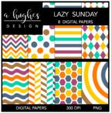 12x12 Digital Paper Set: Lazy Sunday {A Hughes Design}