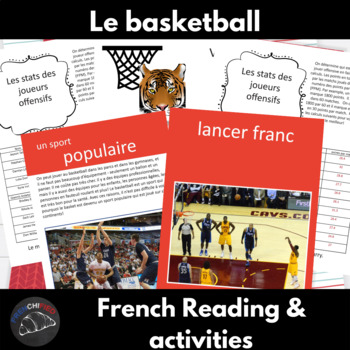 Le Basketball - a reading and activity unit for French learners
