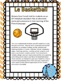 Le Basketball and IEP unit for Ontario Core French Students