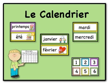 Calendar in French  (Le Calendrier)