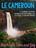 Le Cameroun Reading - Standalone or Supports Le Vol des oiseaux