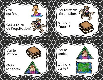 Le Camping: J'ai... Qui a...? French Game/Jeu