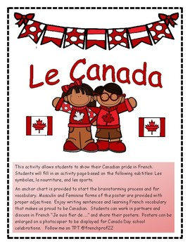 Le Canada 150 create a french poster Ontario French writin