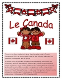 Le Canada create a french Canada Day Ontario Curriculum writing speaking act.