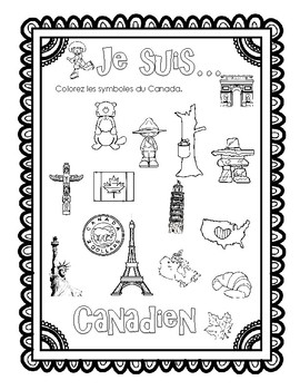Le Canada en francais French Activities reading and speaking Ont Curriculum