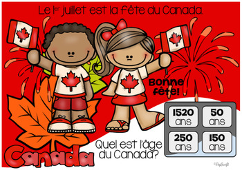 FRENCH BOOM CARDS • Le Canada