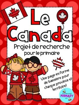 Le Canada - Projet pour le primaire