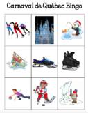 Le Carnaval de Québec Activities Bingo