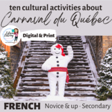 Le Carnaval de Québec - Six Cultural Writing, Speaking and