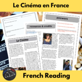 Le Cinéma en France - reading for int/adv French learners