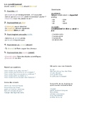 Le Conditionnel - Lesson Sheet & Excercises