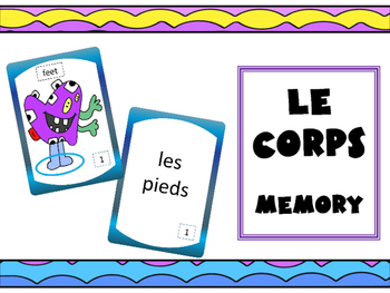 Le Corps Concentration Game– The Body Vocabulary in French Concentration Game