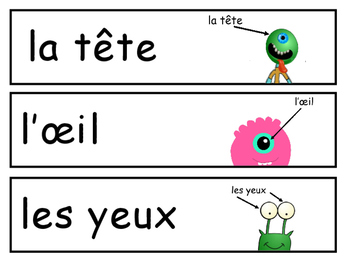 Le Corps – Vocabulary Word Wall French Body Vocabulary