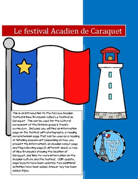 Le Festival Acadien de Caraquet French Culture Unit grade 6 Ontario Curriculum