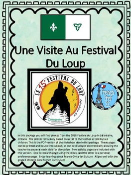 Le Festival Du Loup Powerpoint Video Ontario French Culture