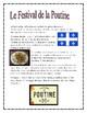 Le Festival de la Poutine Ontario Grade 5 French Culture
