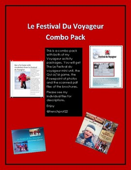 Le Festival du Voyageur Combo Pack Grade 6 French Culture
