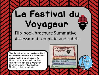 Le Festival du Voyageur Flipbook Brochure French Assessment Activity