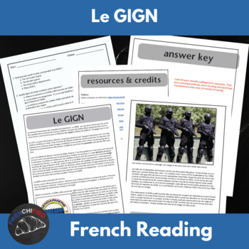 Le GIGN -  a short reading with text-dependent questions