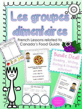 Le Guide Alimentaire Bundle- French Food Groups Bundle wit