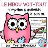 """Centres de littératie - Mots fréquents - Le son """"ou"""" -  French Phonics"""