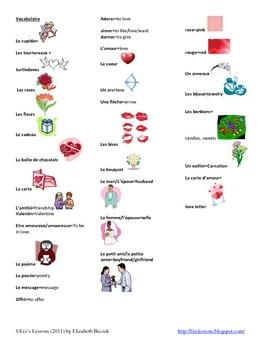 Le Jour de Saint Valentin! French Valentine's Day Activities