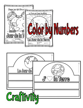 Le Jour de la Terre-Earth Day Coloring Pages/Activities in FRENCH- Immersion/FSL